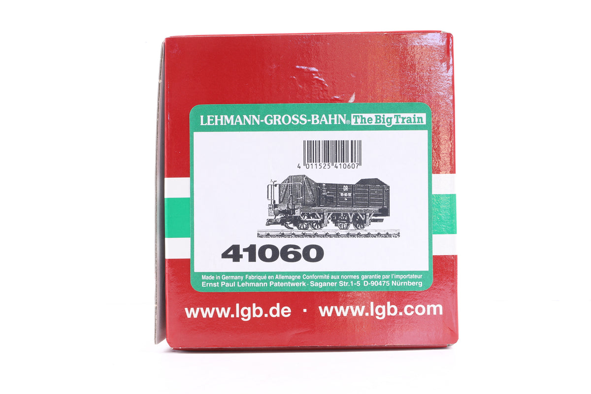 LGB G Scale 41060 DR Open Goods Wagon with Brake Platform