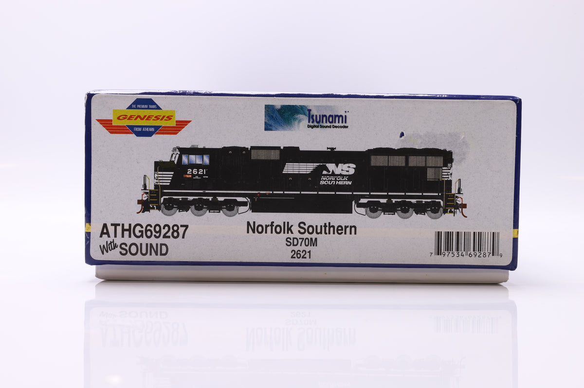 Genesis Norfolk Southern SD70M 2621 ATHG69287 with Sound