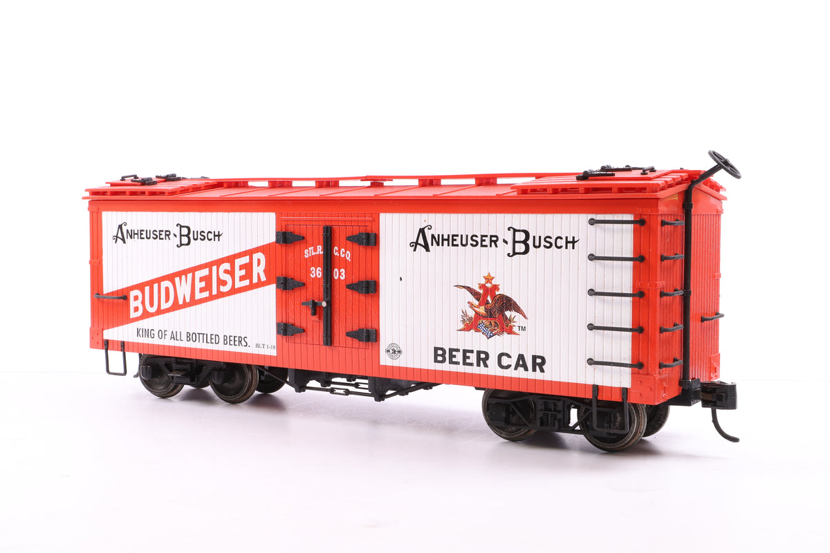 K Line G Scale K923-003 Anheuser-Busch Beer Car Reefer