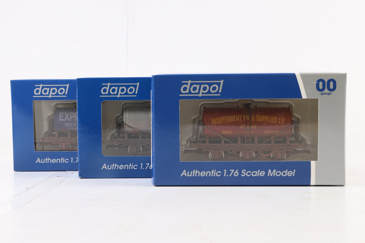 Dapol OO Rake of 7 Wagons, Inc. 2 x 4F-031-006, 020, 018, 026, 008 + 038