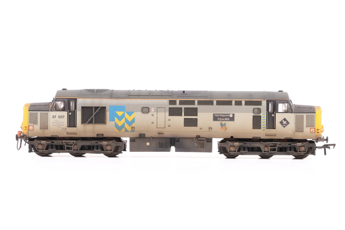 Bachmann OO 32-386 Class 37/5 Diesel 37514 Railfreight Metals Sector, Custom Weathered/Re-name & No. By GC Weathering