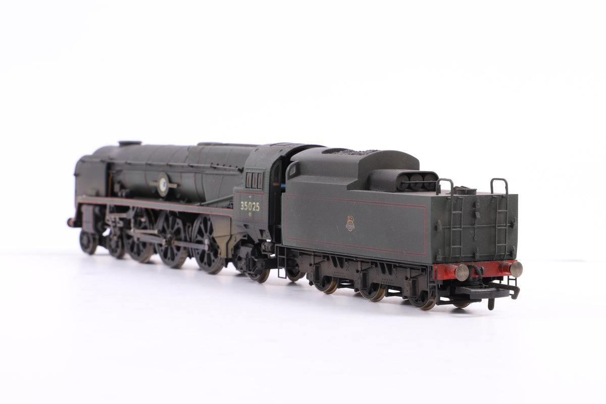 Hornby OO R2267 BR 4-6-2 Merchant Navy Class 'Brocklebank Line', Weathered