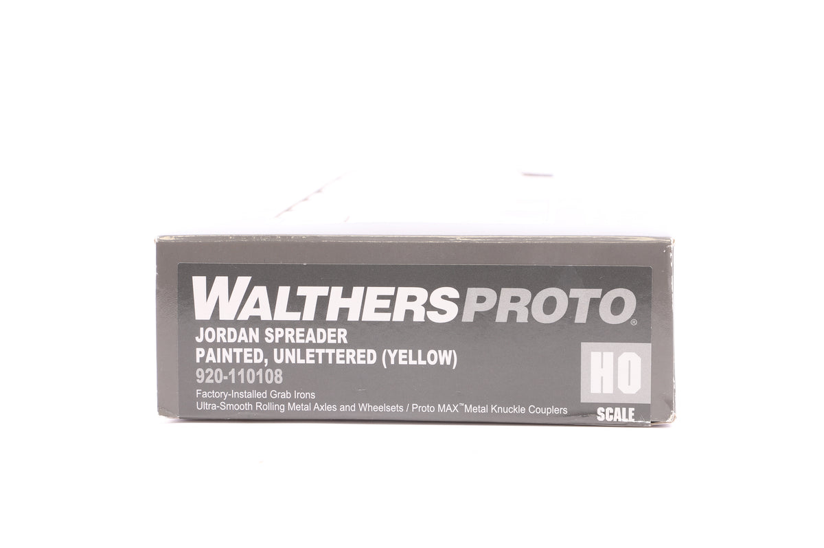 Walthers HO 920-110108 Jordan Spreader Painted, Unlettered (Yellow)