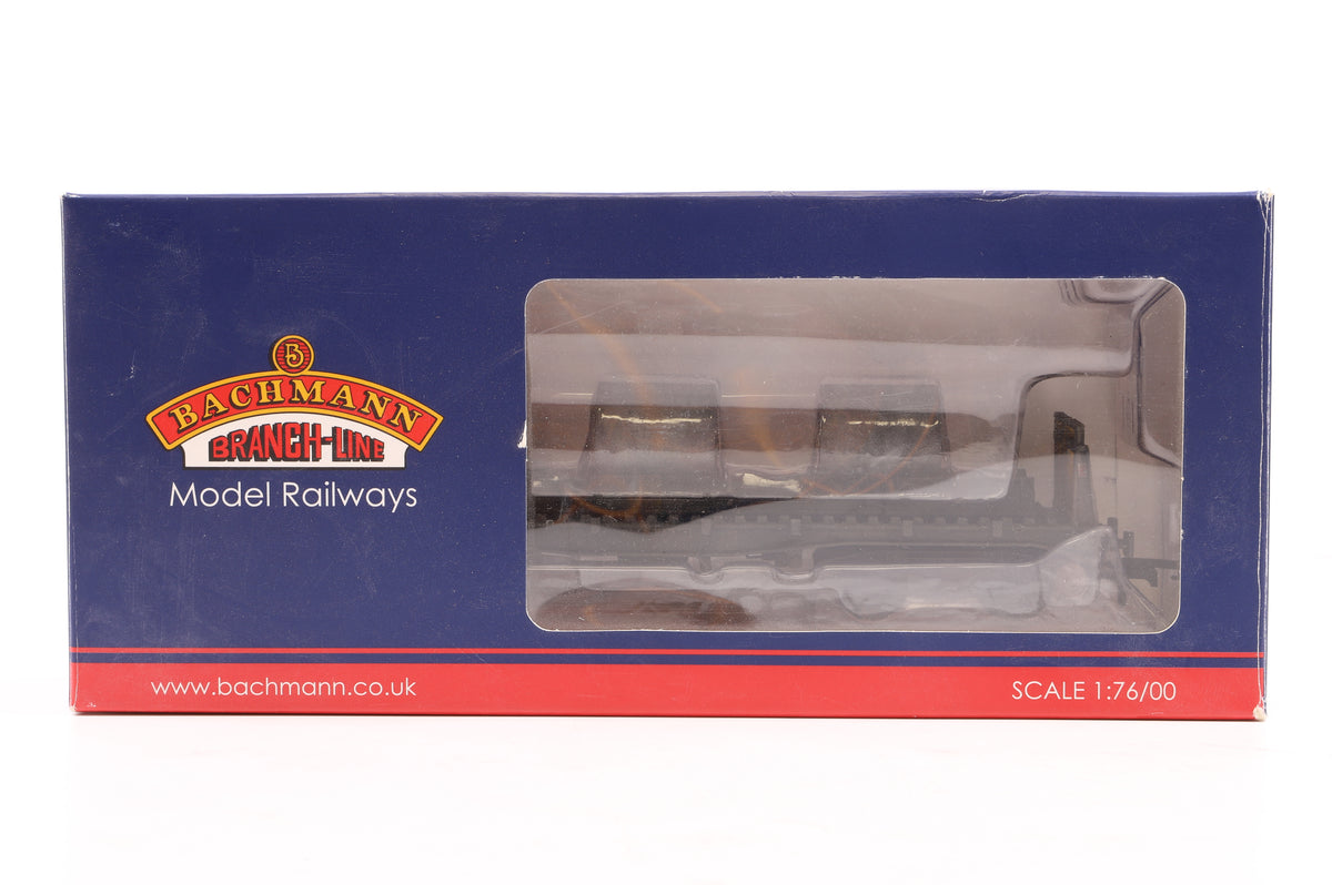 Bachman OO Rake of 4 BAA Steel Carrier Wagons, Railfreight Black & White x2 & Metal Sector x2, Pro Weathered