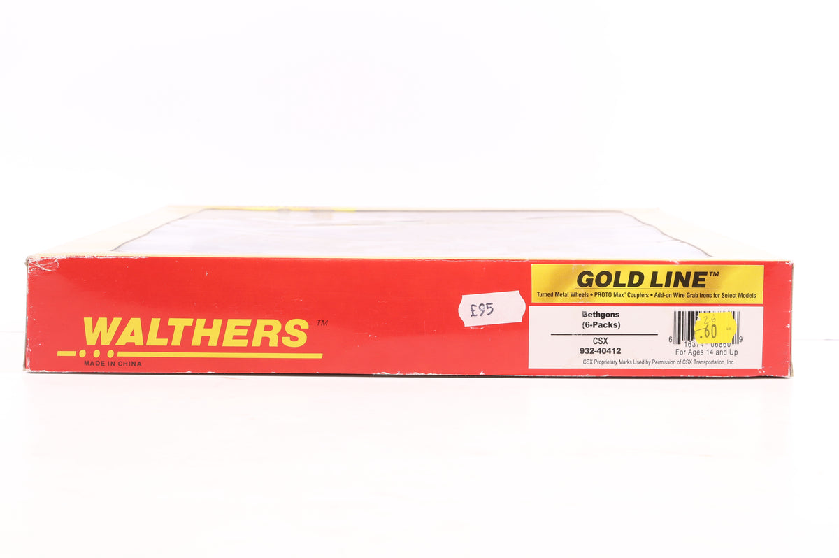 Walthers HO 932-40412 Betons (6-Pack) CSX