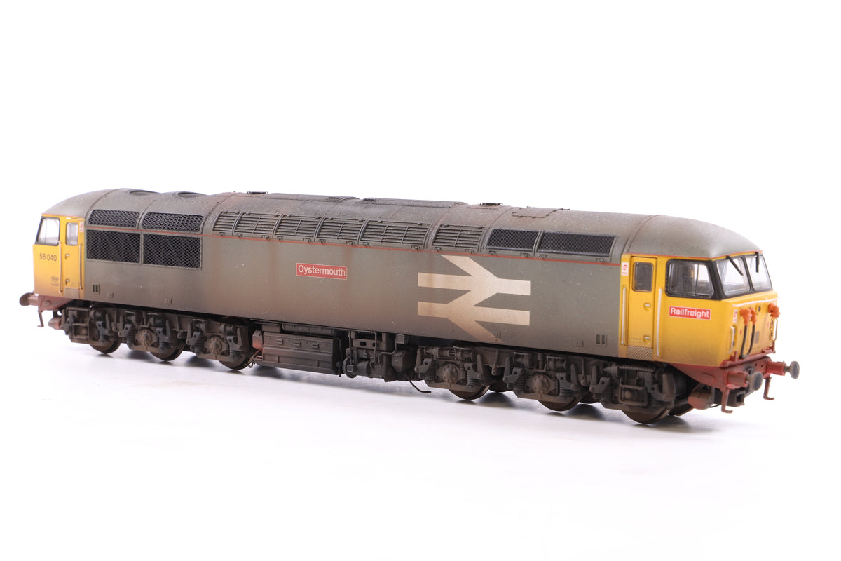 Hornby OO R2962X Railfreight Co-Co Diesel Class 56 Loco 'Oystermouth', Weathered, DCC Fitted