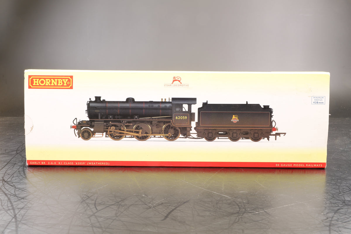 Hornby OO R3305 BR Early Class KI Locomotive '62059' (Weathered)