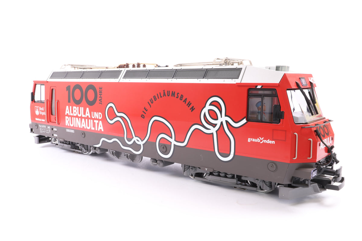 LGB G Scale 27422 RHB GE 4/4 III Albula Electric Locomotive, MTS Sound