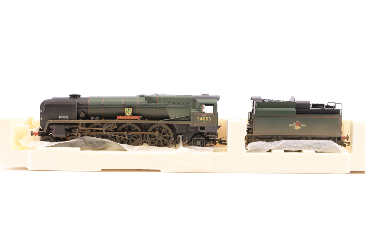 Hornby OO R 2584 BR 4-6-2 Rebuilt West Country Class '34003 Plymouth' Weathered Edition