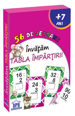 56 de jetoane - Invatam tabla impartirii