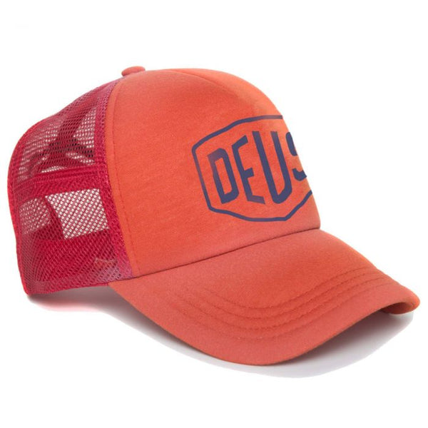 Bleached Shield Trucker - Red Clay