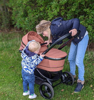Review - iCandy Peach Stroller and Carrycot 2020 - Phantom / Terracotta Twill