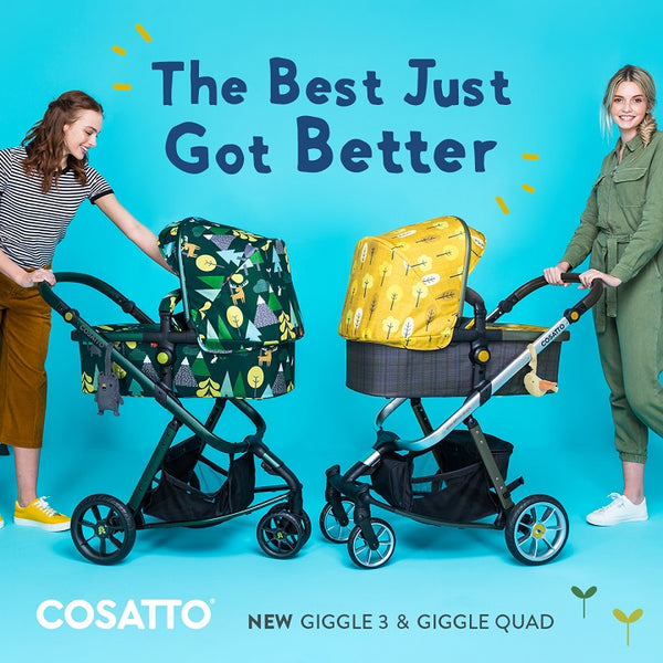 cosatto giggle 3 pram pushchair spot the birdie hare wood