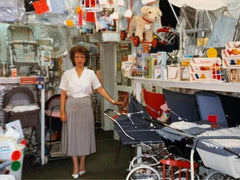 Jean Bean inside Charminster Baby Store Bournemouth
