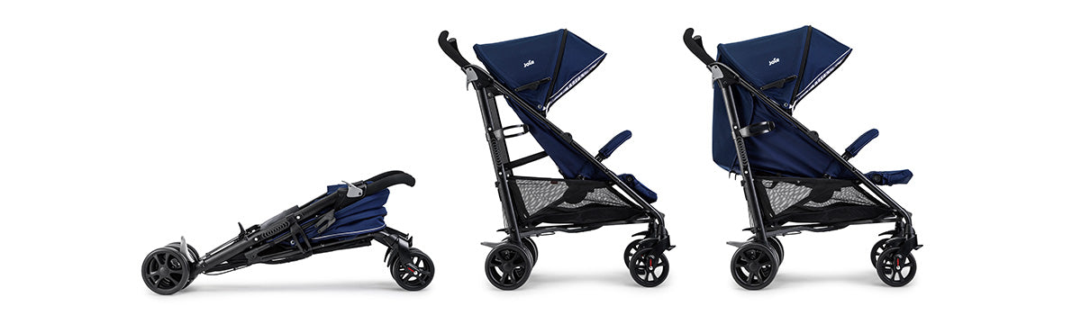 Joie Brisk LX Stroller Midnight with Footmuff and Raincover