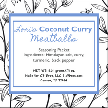 Load image into Gallery viewer, Coconut Curry Meatballs Seasoning Packet & Recipe Card
