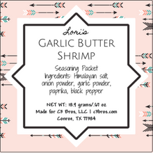 Load image into Gallery viewer, Garlic Butter Shrimp Seasoning Packet & Recipe Card