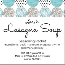 Load image into Gallery viewer, Lasagna Soup Seasoning Packet & Recipe Card