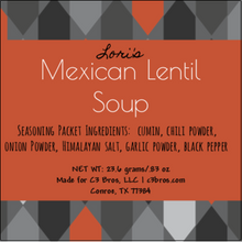 Load image into Gallery viewer, Mexican Lentil Soup Seasoning Packet & Recipe Card