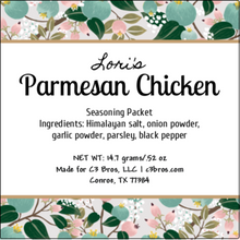 Load image into Gallery viewer, Parmesan Chicken Seasoning Packet & Recipe Card