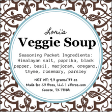 Load image into Gallery viewer, Veggie Soup Seasoning Packet & Recipe Card