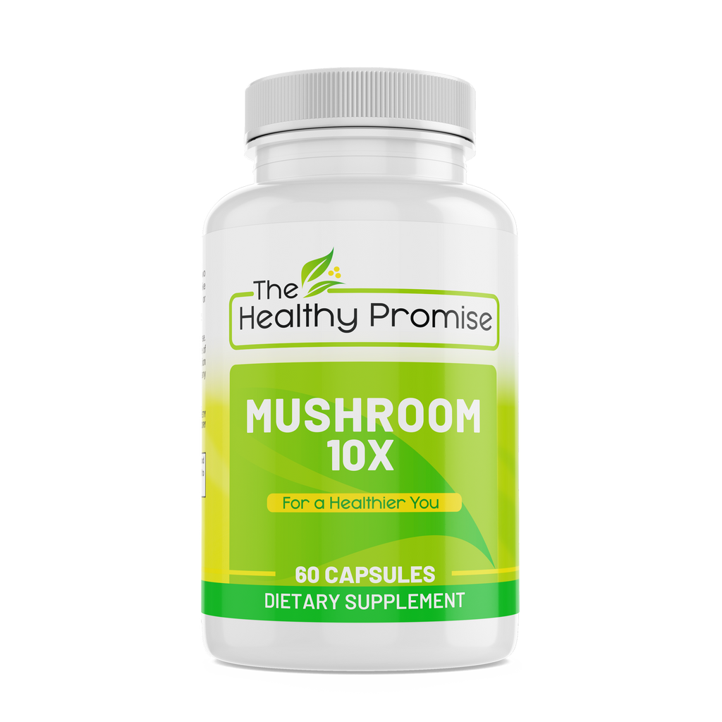 mushroom 10x immune dietary vitamin supplement healthy