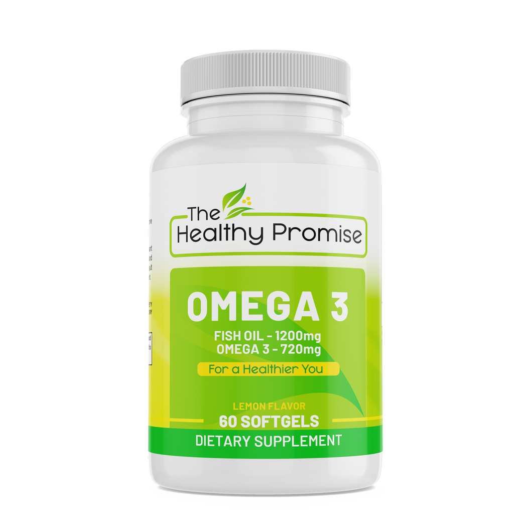 the healthy promise omega 3 fish oil dietary supplement front