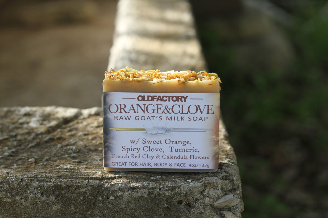 Handcrafted Soap - Goats Milk - Orange & Clove - 3 Pack