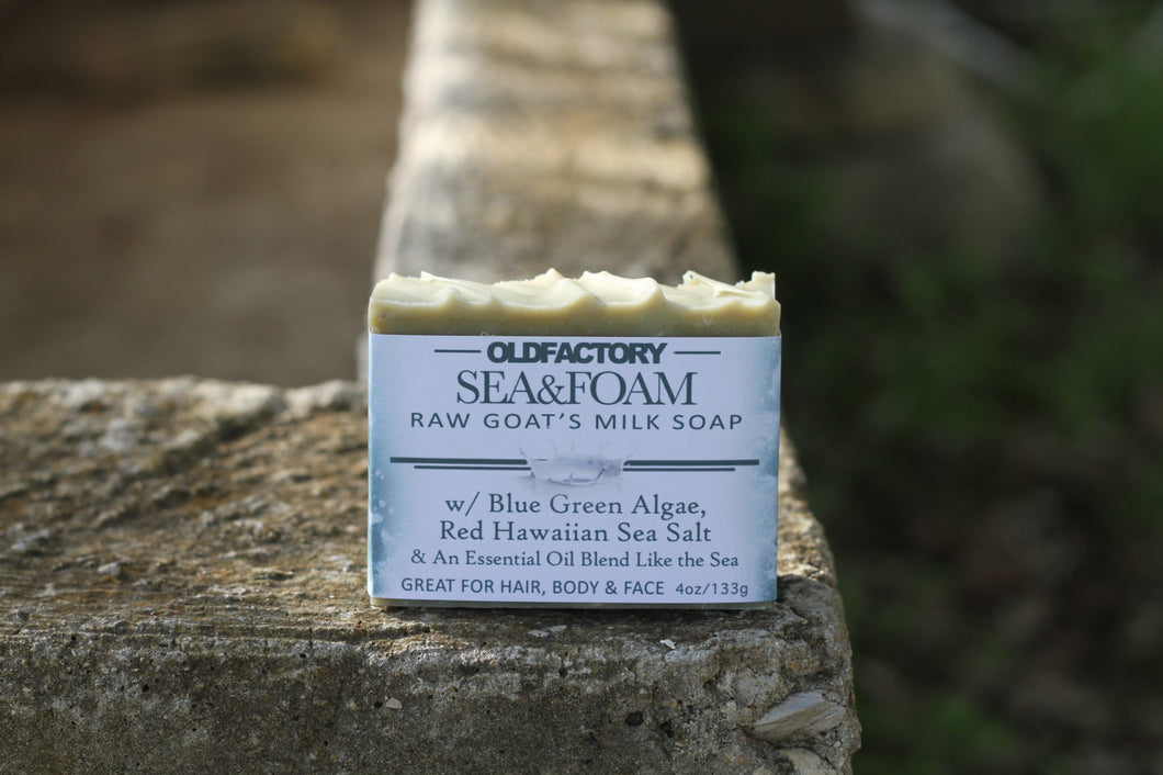 Handcrafted Soap - Goats Milk - Sea & Foam - 3 Pack