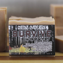 Load image into Gallery viewer, Handcrafted Soap - Shea & Flax - Survive – Outdoor & Camping Soap - 3 Pack
