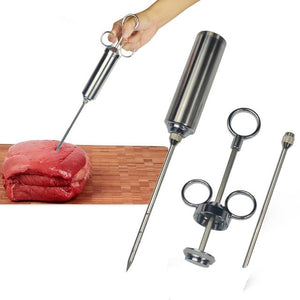 BBQ Marinade Injector Syringe, Stainless Steel