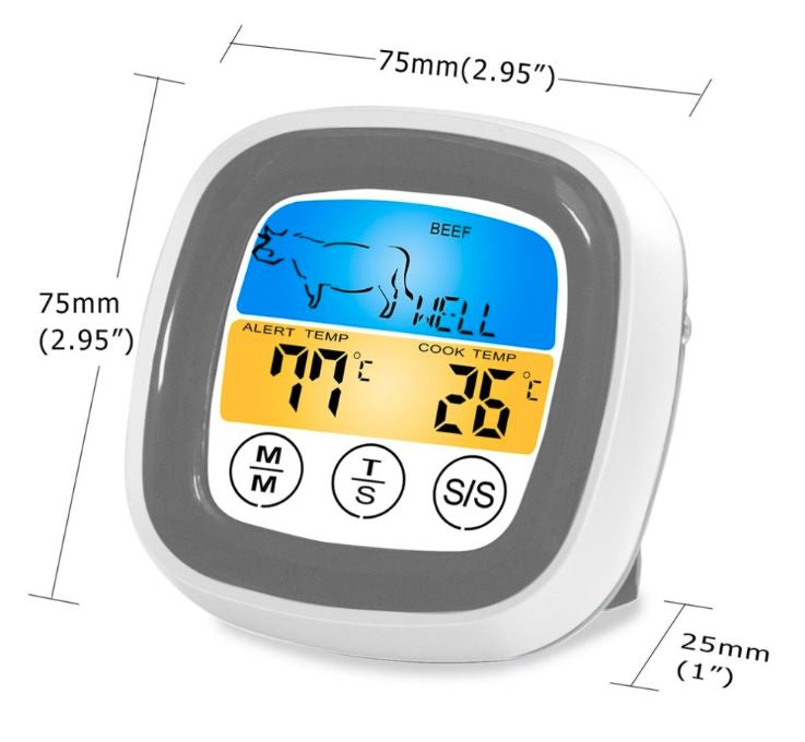 Digital Thermometer for Kitchen and BBQ single probe