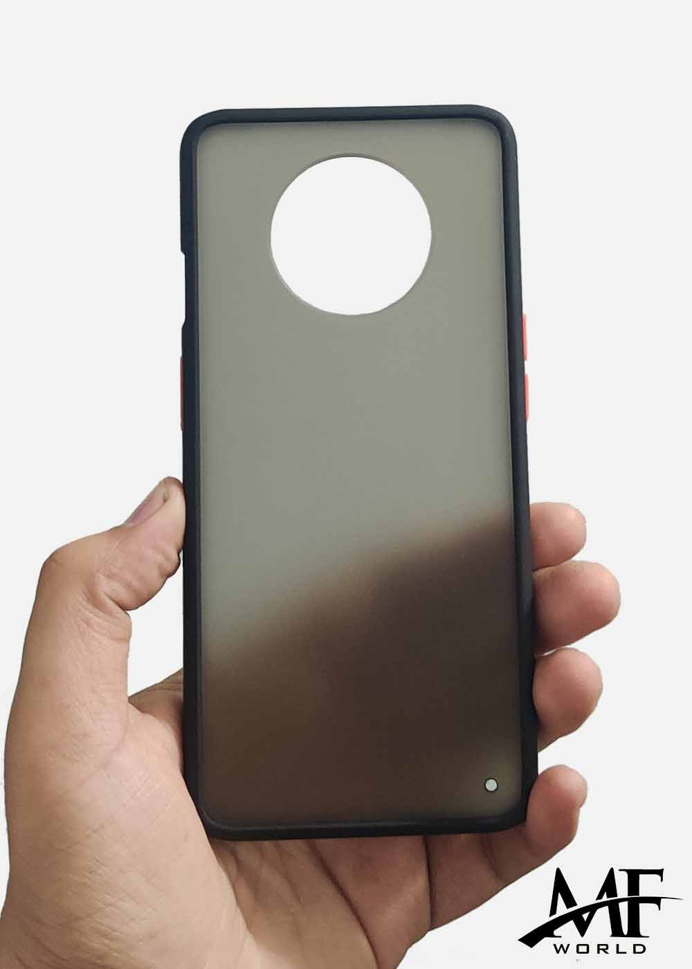Black Smoke Silicone Protection Case For OnePlus 7T