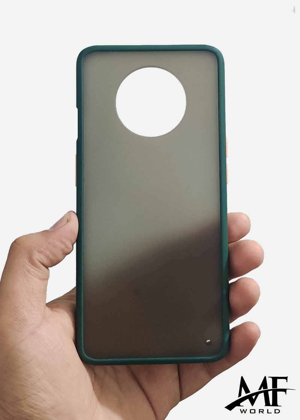 Dark Green Smoke Silicone Protection Case For OnePlus 7T