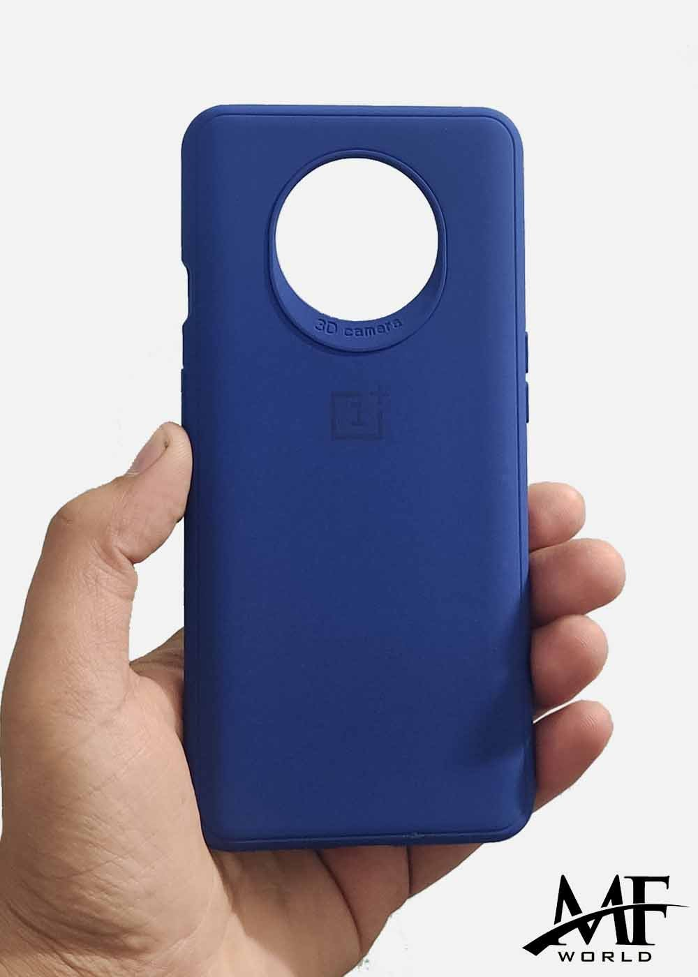 Dark Blue Ultrasoft Silicone Case For OnePlus 7T