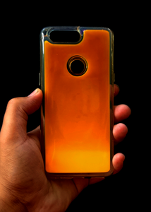 Orange Glow In the Dark Silicone Case For OnePlus 5T