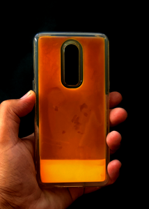 Orange Glow In the Dark Silicone Case For OnePlus 6