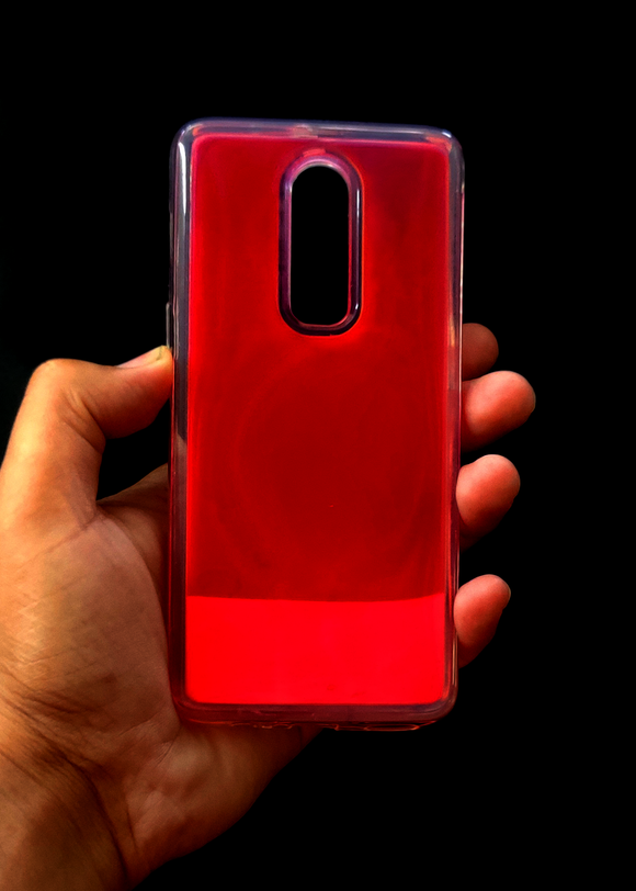 Pink Glow In the Dark Silicone Case For OnePlus 6
