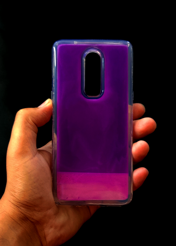 Purple Glow In the Dark Silicone Case For OnePlus 6