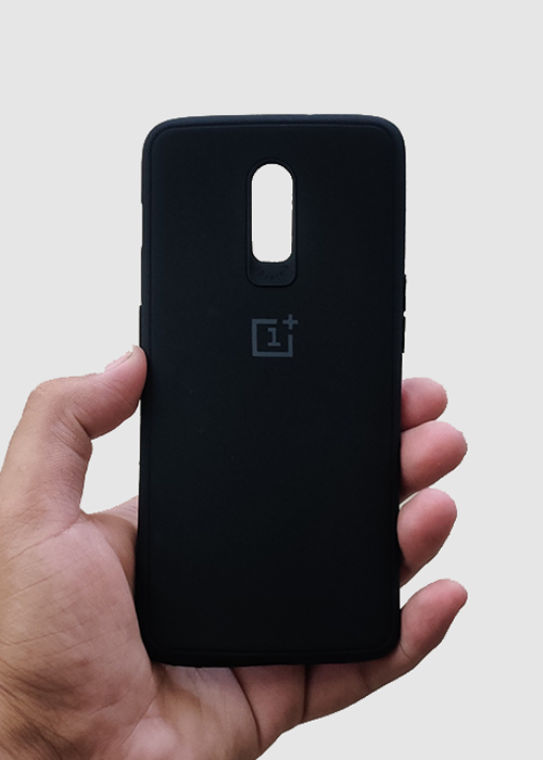 Black Ultrasoft Silicone Case For OnePlus 7