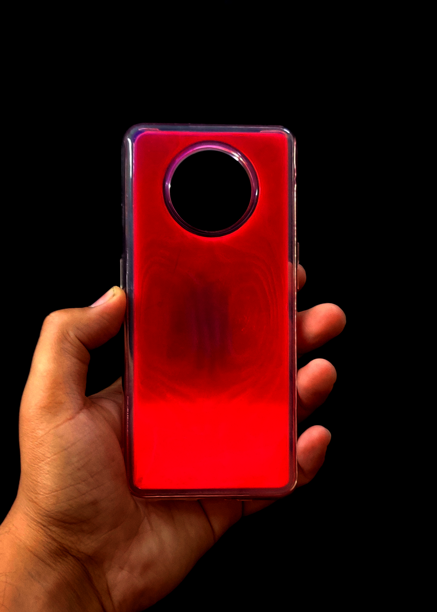 Pink Glow In the Dark Silicone Case For OnePlus 7T