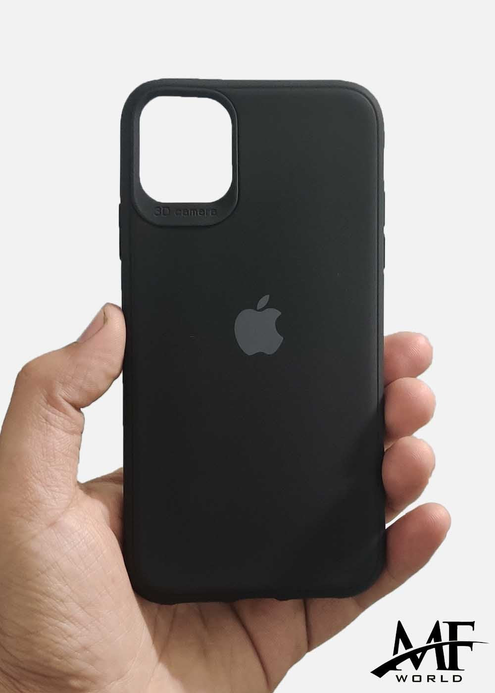Black Ultrasoft Silicone Case For Apple Iphone 11