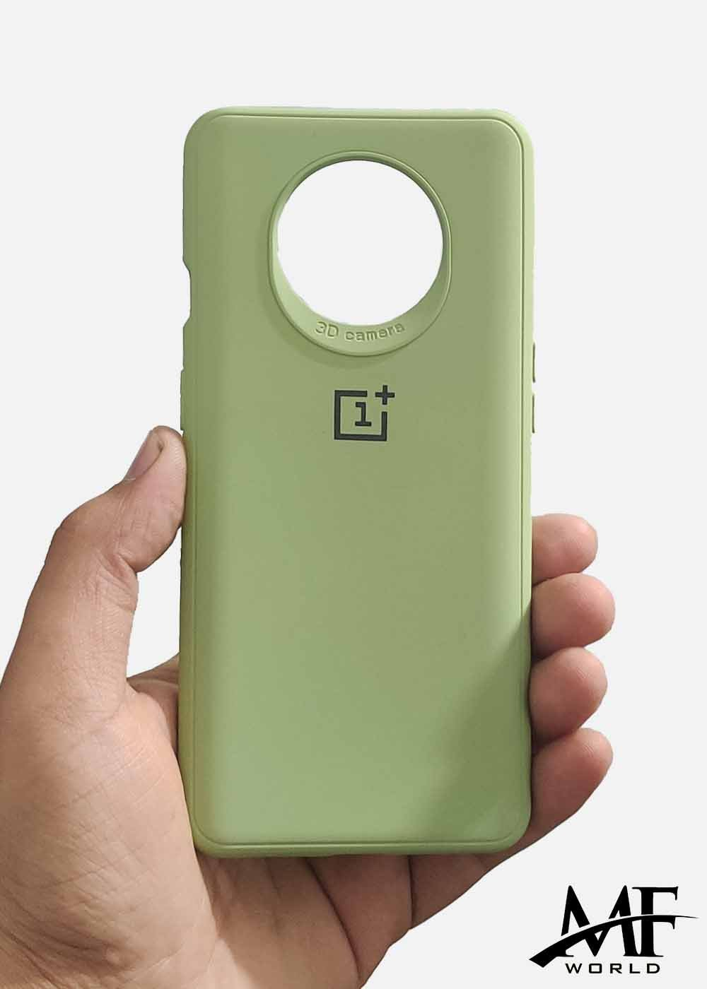 Light Green Ultrasoft Silicone Case For OnePlus 7T