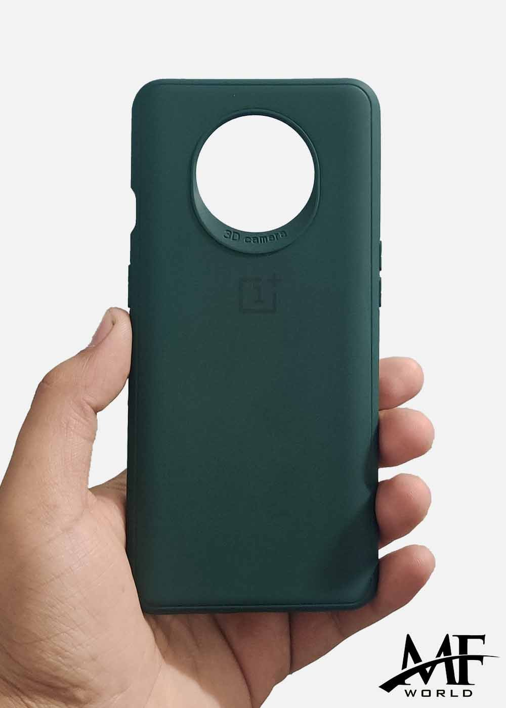 Dark Green Ultrasoft Silicon Case For Oneplus 7T