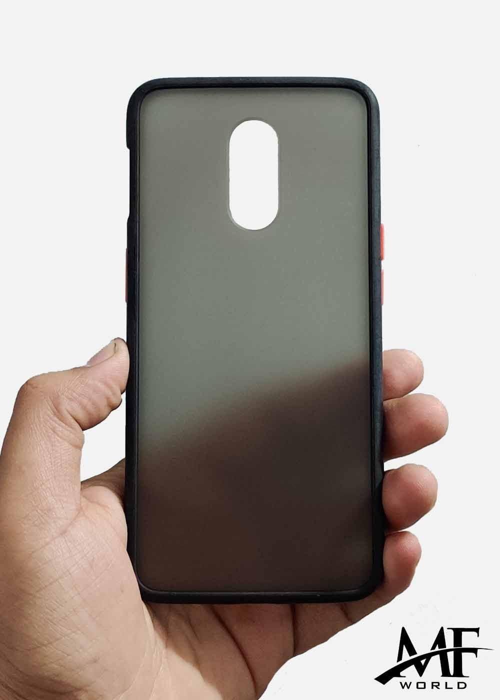 Black Smoke Silicone Protection Case For OnePlus 6T