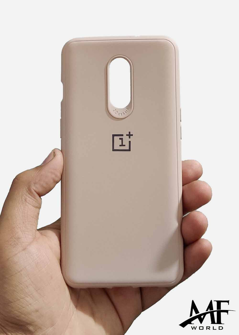Peach Ultrasoft Silicone Case For OnePlus 6