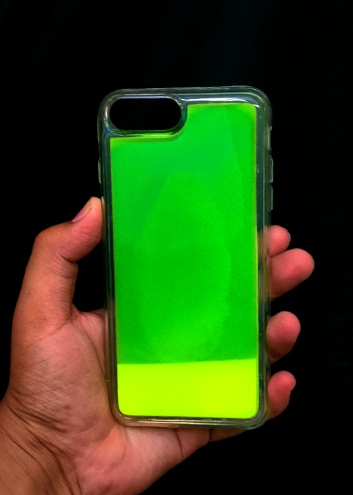 Green Glow In the Dark Silicone Case For Iphone 7 Plus