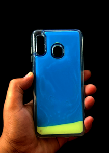 Blue Glow In the Dark Silicone Case For Samsung A30