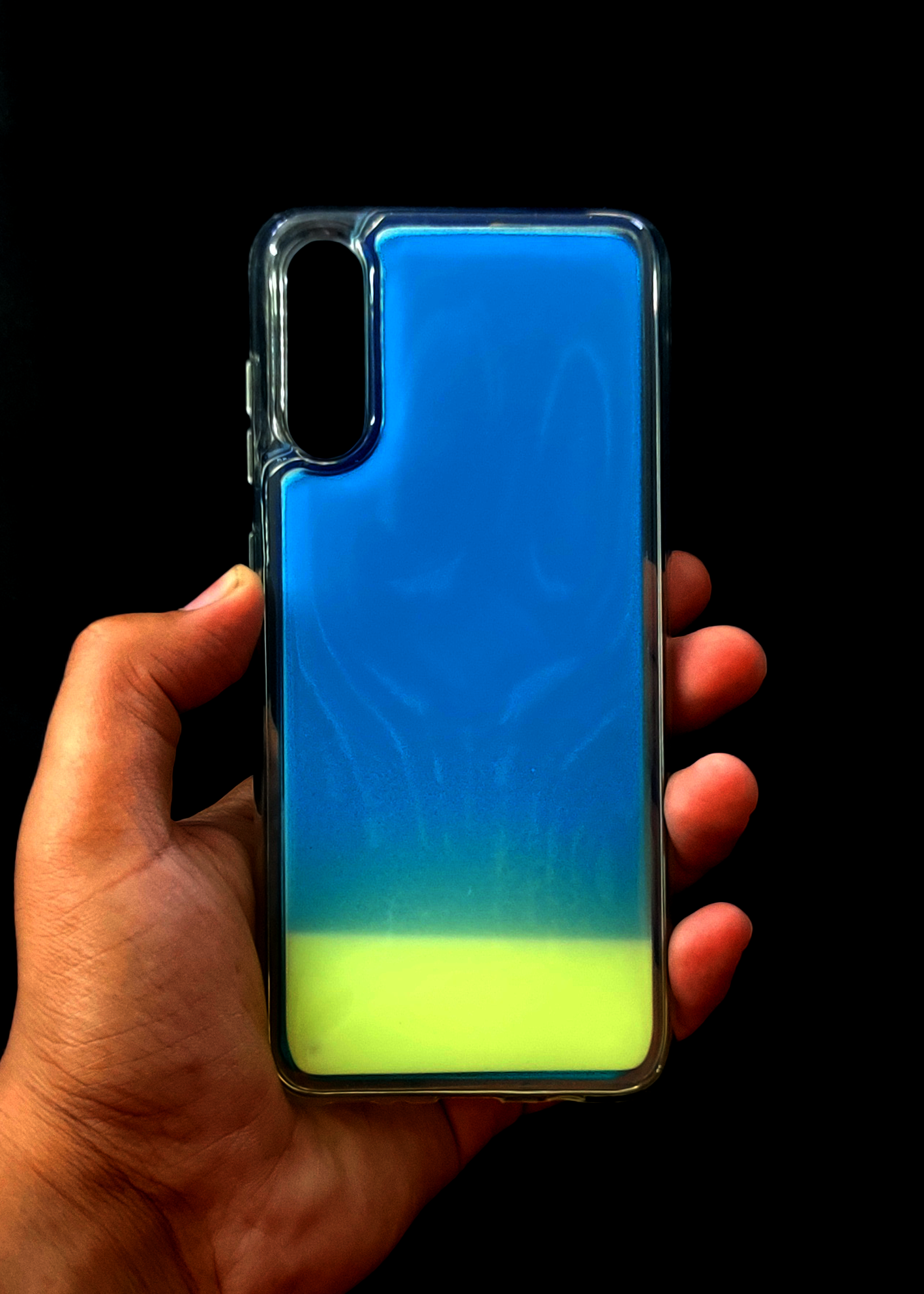 Blue Glow In the Dark Silicone Case For Samsung A70