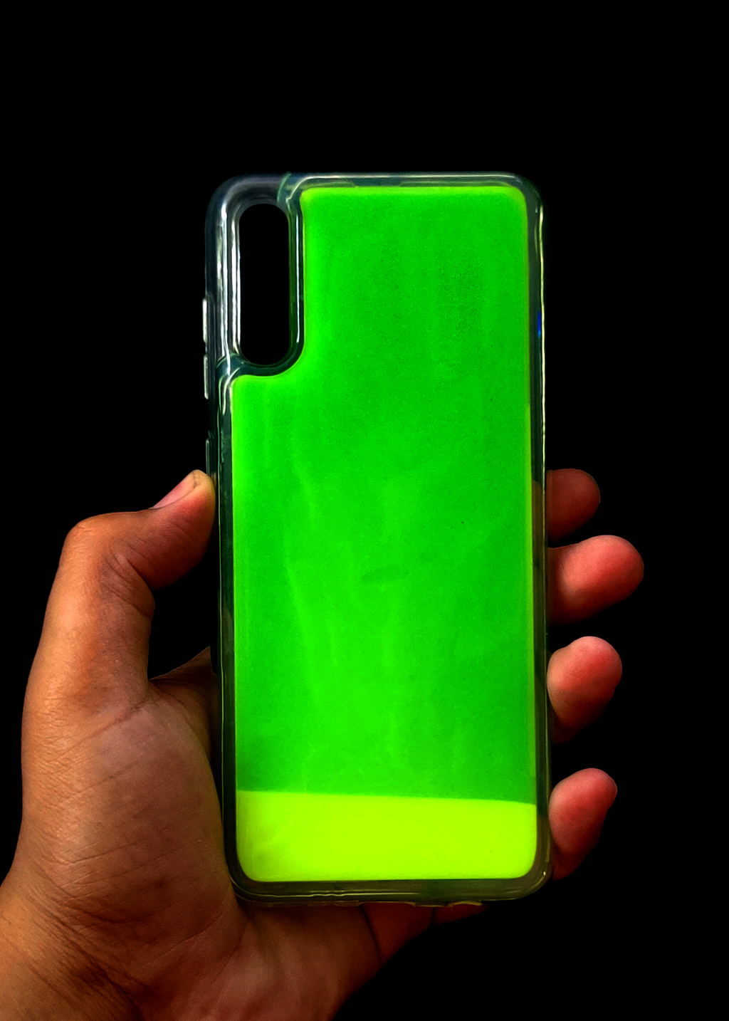 Green Glow In the Dark Silicone Case For Samsung A70